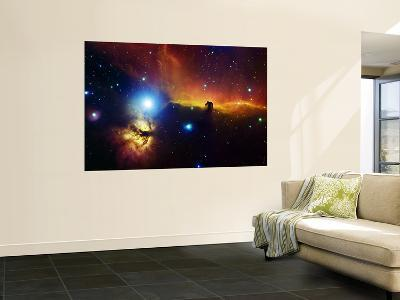 Alnitak Region in Orion (Flame Nebula NGC2024, Horsehead Nebula IC434)--Wall Mural