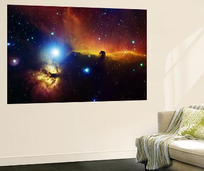 Alnitak Region in Orion (Flame Nebula NGC2024, Horsehead Nebula IC434)--Giant Art Print