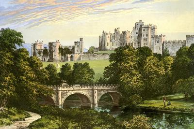 Alnwick Castle, Northumberland, Home of the Duke of Northumberland, C1880-Benjamin Fawcett-Giclee Print