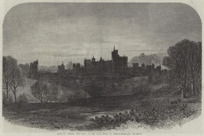 Alnwick Castle, the Seat of the Late Duke of Northumberland--Giclee Print