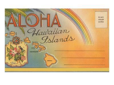 Aloha, Hawaiian Islands, Folder--Art Print