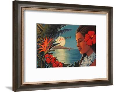 Aloha Moonrise--Framed Art Print