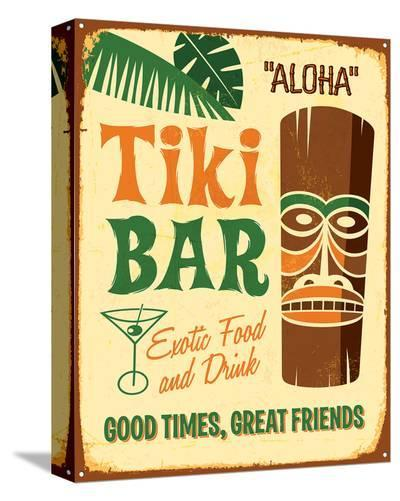 Aloha Tiki Bar--Stretched Canvas Print