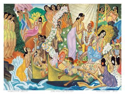 Aloha: Universal Word, Traditional Hawaiian Welcome-Eugene Savage-Art Print
