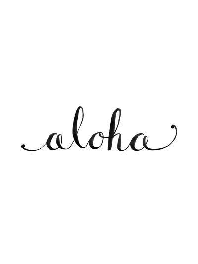 Aloha-Jetty Printables-Art Print
