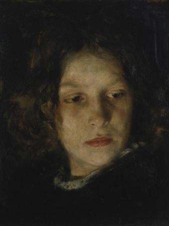 Maedchenkopf, 1895 by Alois Erdtelt