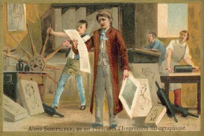 Alois Senefelder, German Inventor of Lithoy--Giclee Print