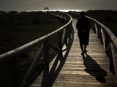 Along a Wooden Track During a Walk to the Beach in Village of Zahara De Los Atunes, Southern Spain--Photographic Print