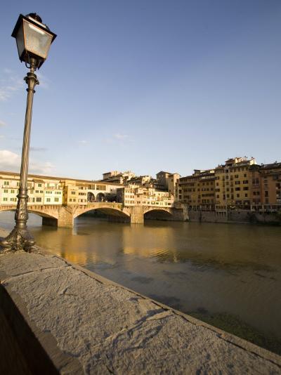 Along the Arno River and the Ponte Vecchio, Florence, Tuscany, Italy, Europe-Olivieri Oliviero-Photographic Print