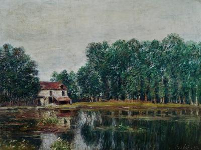 Along the Canal at Moret-Sur-Loing, 1892-Alfred Sisley-Giclee Print