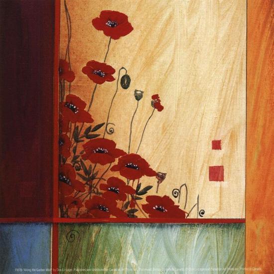 Along the Garden Wall-Don Li-Leger-Art Print