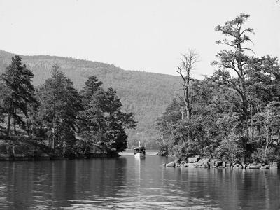 Along the Harbor Islands, Lake George, N.Y., C.1904--Photographic Print