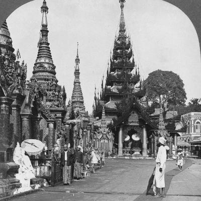 Along the Platform to the Southern Ascent, Shwedagon Pagoda, Rangoon, Burma, 1908--Photographic Print