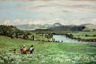 Along the Rhine Near Saeckingen, 1873-Hans Thoma-Giclee Print