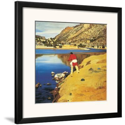 Along the Rio Grande-Walter Ufer-Framed Art Print