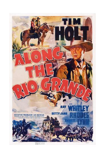 Along the Rio Grande--Giclee Print