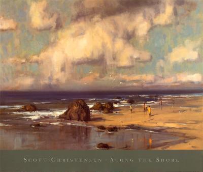 Along the Shore-Scott Christensen-Art Print