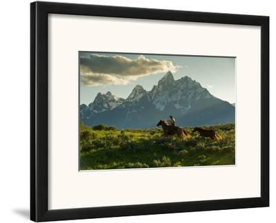 Along the Teton Trail-Robert Dawson-Framed Art Print