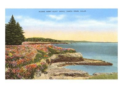 Along West Cliff Drive, Santa Cruz, California--Art Print