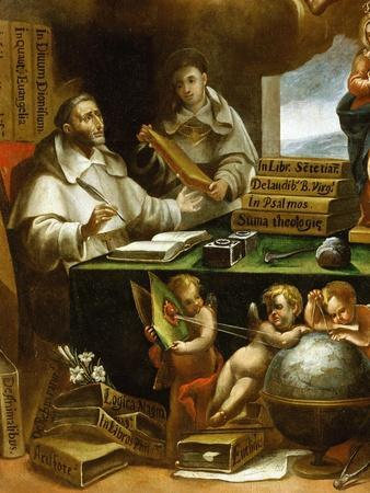 Saint Albert Writing, Apparition of Saint Paul to Saint Albert the Great and Saint Thomas Aquinas