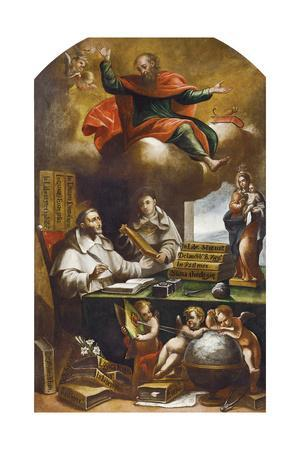 St Paul Appears to St Albert the Great and St Thomas of Aquinas