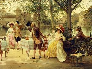 A Cafe by the River by Alonso Perez