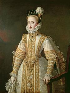 Anne of Austria (1549-80) Queen of Spain, c.1571 by Alonso Sanchez Coello