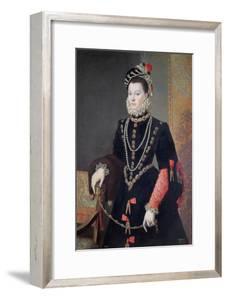 Elizabeth De Valois, 1604-8 by Alonso Sanchez Coello