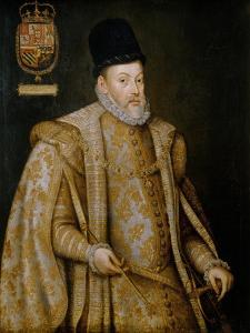 Portrait of Philip II with Coat of Arms of King of Portugal, 1580 by Alonso Sanchez Coello