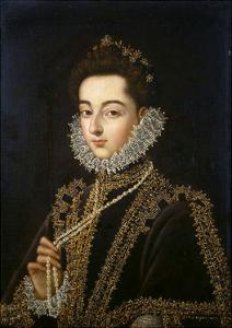 Portrait of the Infanta Catherine Michelle of Spain, (1567-159), 1582-1585 by Alonso Sanchez Coello