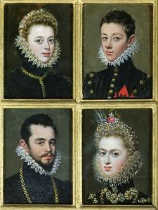 Portrait of Two Men and Two Women by Alonso Sanchez Coello