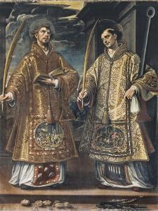 Saint Lawrence and Saint Stephen by Alonso Sanchez Coello