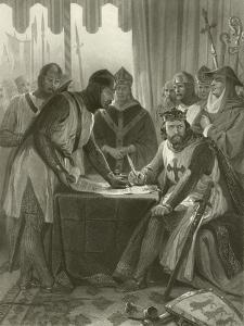 King John Signing Magna Carta, 1215 by Alonzo Chappel