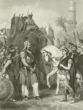 Surrender of Porus to the Emperor Alexander, 326 Bc