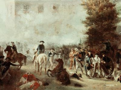 Washington at Battle of Germantown