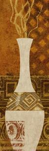Ethnic Vase I by Alonzo Saunders