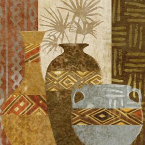 Ethnic Vase V by Alonzo Saunders