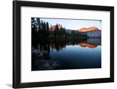 Alpenglow at Sunset on Cathedral Peak in Tuolumne Meadows-Ben Horton-Framed Photographic Print