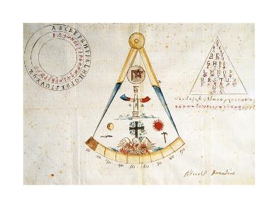Alphabet and Symbols of Carbonari, 1815--Giclee Print