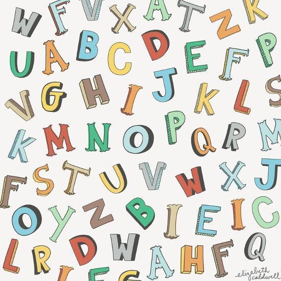 Alphabet Animals Letters-Elizabeth Caldwell-Giclee Print
