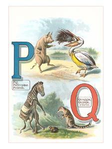 Alphabet Animals, P and Q