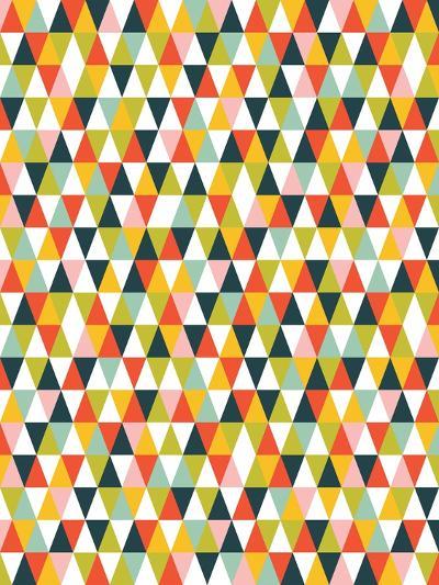 Alphabet Diamond Pattern-Tamara Robinson-Art Print