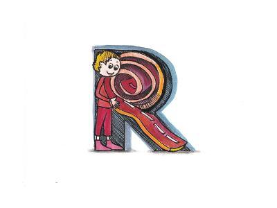 Alphabet, Letter R-tannene-Art Print