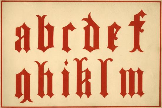 Alphabet, letters a-m, lower case-Unknown-Giclee Print
