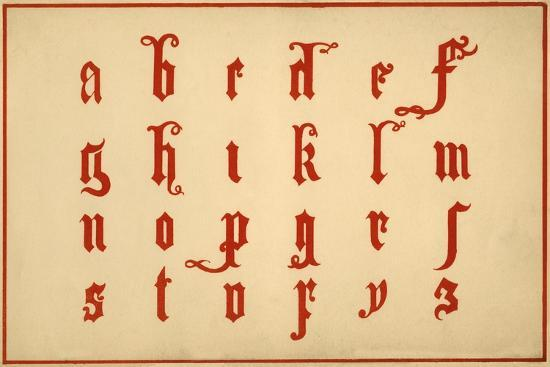 Alphabet, letters a-z, lower case-Unknown-Giclee Print