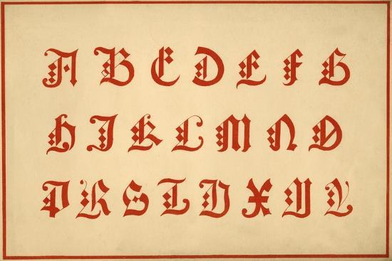 Alphabet, letters A-Z, upper case-Unknown-Giclee Print