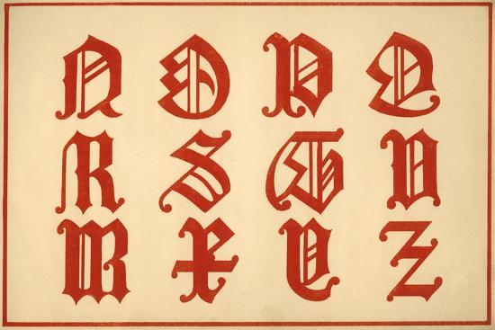 Alphabet, letters N-Z, upper case-Unknown-Giclee Print