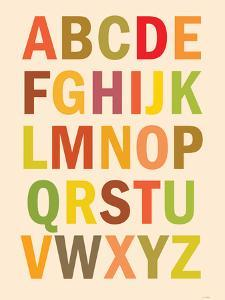 Alphabet (List) Art Poster Print
