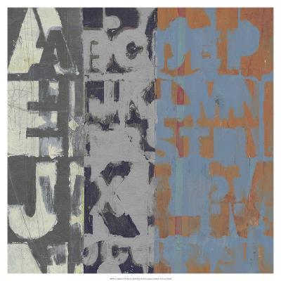 Alphabet Overlay I--Art Print