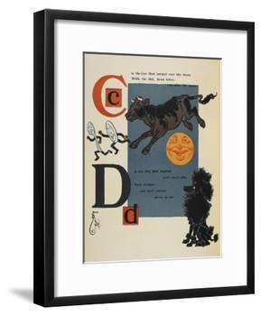 Alphabet Page: C and D. the Cow That Jumped Over the Moon. the Dog That Laughed-William Denslow-Framed Giclee Print